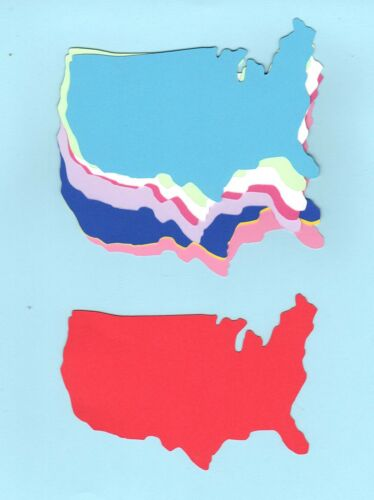 United States Map Die Cuts United States Die Cuts you choose Size /& Colors