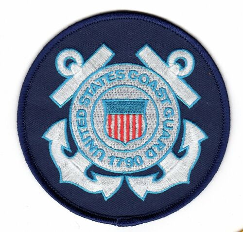 "Large US Coast Guard Iron On Patch 4/"" Officially Licensed by Eagle Crest 7153"