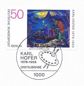 Adaptable Berlin 1978: Karl-hofer-peintures Nº 572 Avec Propre Ersttags Cachet! 1a! 1511-älde Nr. 572 Mit Sauberem Ersttagsstempel! 1a! 1511fr-fr Afficher Le Titre D'origine