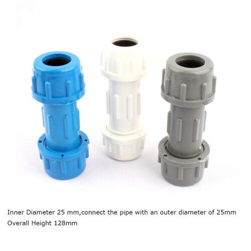 5pcs × Various 25mm Inner Diam PVC Water Supply Pipe Fittings Adapter Connector