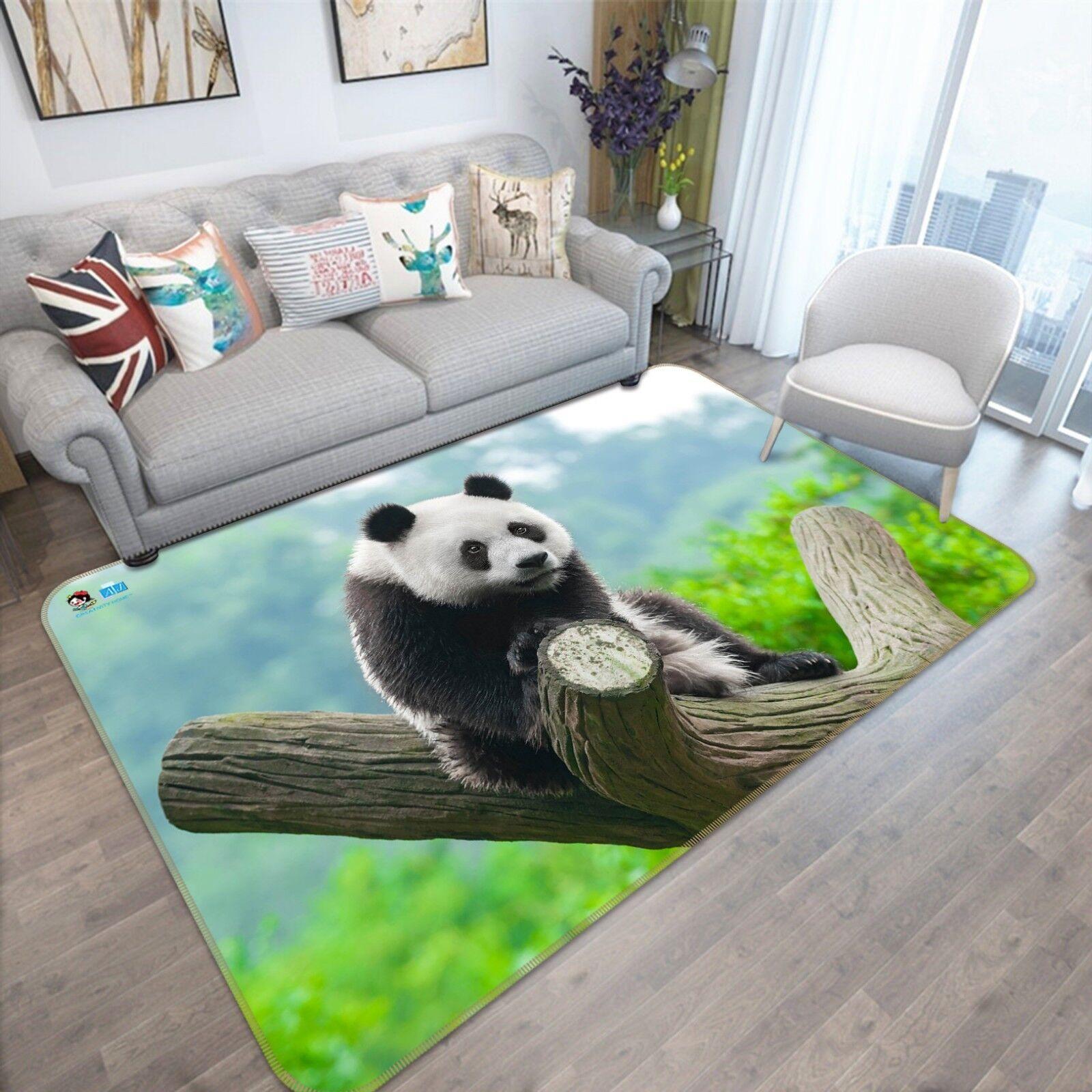 Panda tronco 3D 788 Alfombra Colchoneta Antideslizante Alfombra De Sala Elegante De Calidad Foto Alfombra