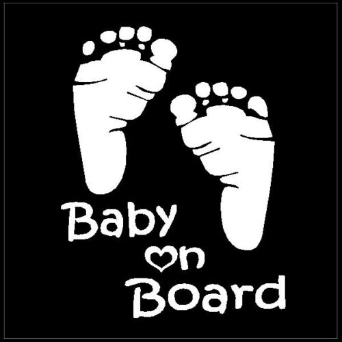 Baby on Board Foot Prints Car Truck Window Decals Vinyl Laptop Stickers 4 sizes