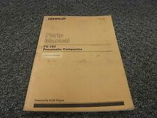 Caterpillar Cat PS180 Pneumatic Compactor Roller Parts Catalog Manual 7PD45-Up