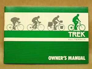 vtg trek bicycle owners manual gear chart mountain road bike rh ebay com Parts Manual Tractor Service Manuals