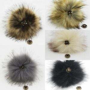 68ce63a19c3 New Cute Faux Fox Fur Pom Pom With Press Button Fake Fur Hat ...