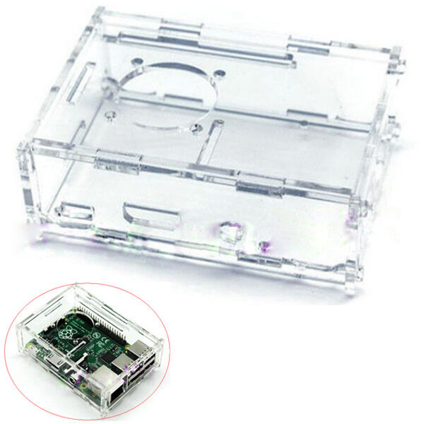 Transparent Acrylic Case Shell Enclosure Box for Raspberry Pi 2 and Model B B+
