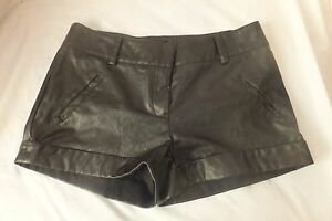 Faux-leather-SHORTS-pants-sexy-black-cheap-chic-a-booti-low-rise-8-10-Vgc