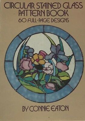c 60 Full-Page Designs Vintage Connie Eaton OVAL STAINED GLASS Pattern Book 1984