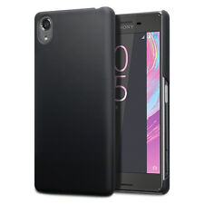 Original Sony Xperia X Compact Case Slim Rugged Hybrid Rubberised Tech Black