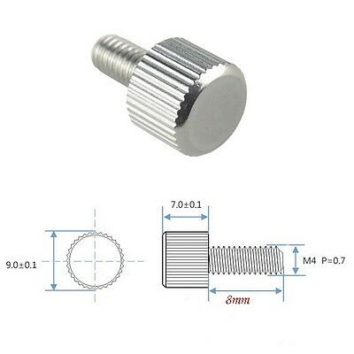 5/10/20/50/100 PCS M4 x 8mm Toolless Thumb Screw Stainless Steel CK NEW