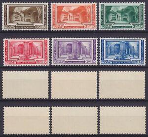 """Vaticano 1938 """"Congresso Archeologia"""" n. 55-60 la serie MNH** nuova g. integra"""