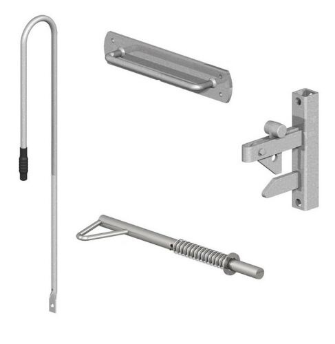 Uni Latch Long Handle Gate Latch Kit Gate Catch Set For Metal Gate Galvanised