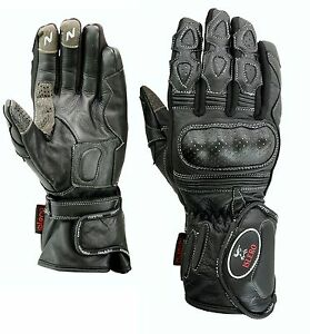 ISLERO-Leather-Thermal-Winter-Motorbike-Motorcycle-Gloves-Carbon-Fiber-Knuckles