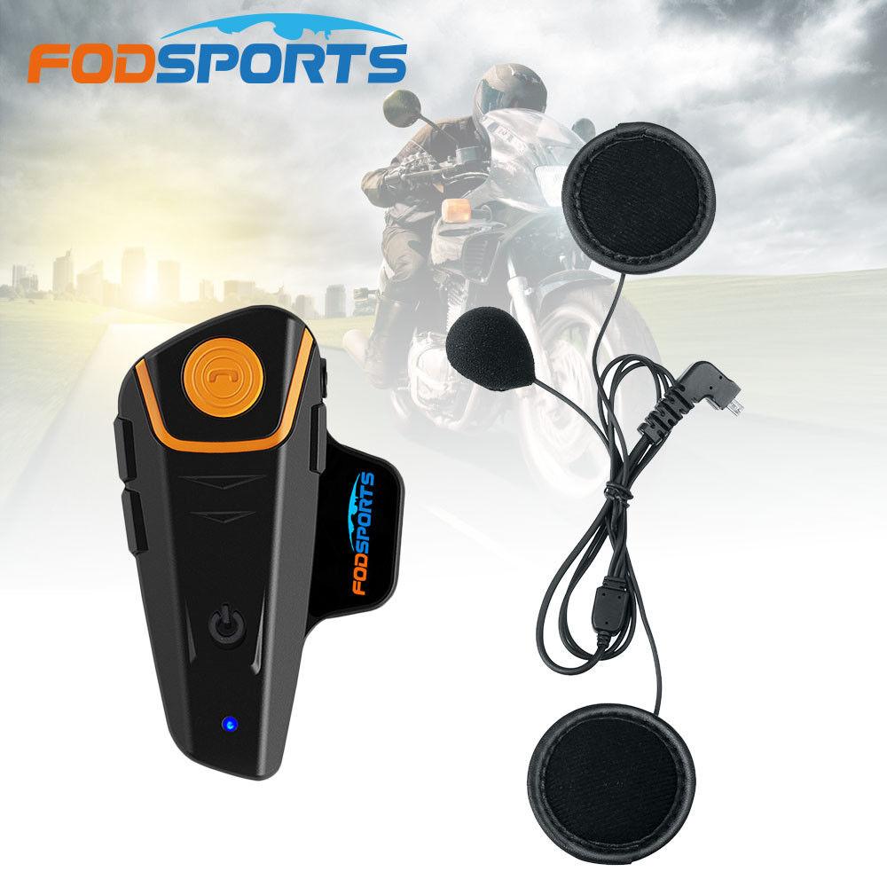 1000M Intercom Motorcycle Wireless Full Helmet BT Bluetooth Headset FM Radio