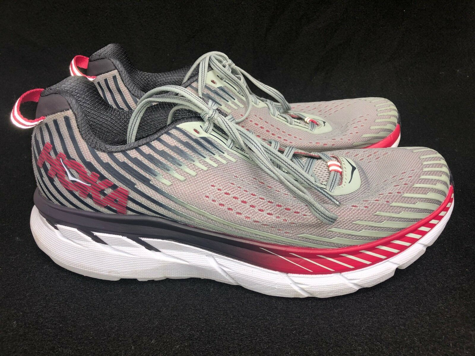 Hoka One One Clifton 5 Running Tennis shoes 1093756 Alloy Metal Athletic 10 11.5