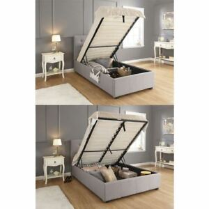 9fd154c84a56 Image is loading REGAL-OTTOMAN-BEDSTEAD-FABRIC-HOPSACK-GAS-LIFT-STORAGE-