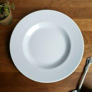 Pottery-Barn-Al-Fresco-pattern-white-melamine-over-sized-salad-plates-lot-of-2