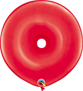 DONUT-BALLOONS-STANDARD-RED-25ct-QUALATEX-16-034-GEO-DONUT-MODELLING-BALLOONS