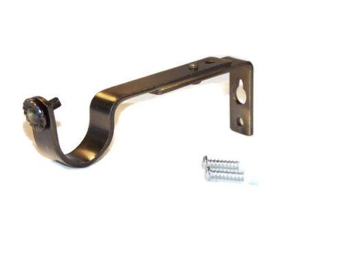 28mm Antique Brass Adjustable Extendable Curtain Pole Bracket Brackets 1 2 3