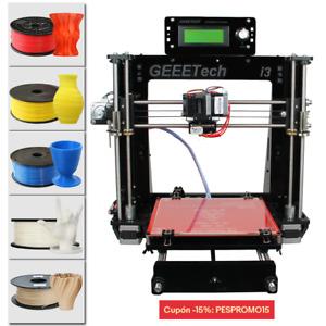 Libre de impuestos! Geeetech Acrylic Prusa I3 Pro B 3D Impresoras LCD free ship
