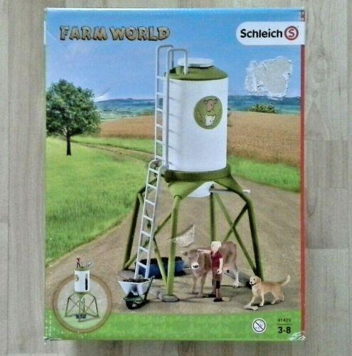 Schleich Farm World 41429 FUTTERSILO MIT TIEREN UND BAUER *NEU OVP* Bauernhof