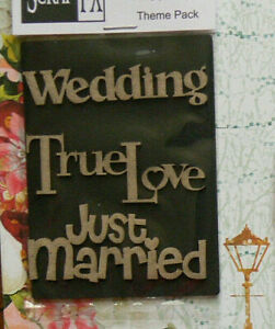 CHIPBOARD-Die-Cut-WEDDING-THEME-PACKS-amp-LOVE-1-Style-Choice-Scrap-FX-L