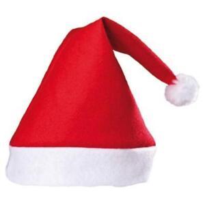 6d4204baf35ed3 Adult Red Felt Santa Claus Hat 82686220682 | eBay