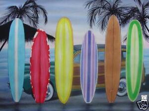 POLAR AFGHAN FLEECE BLANKET THROW SURFBOARD
