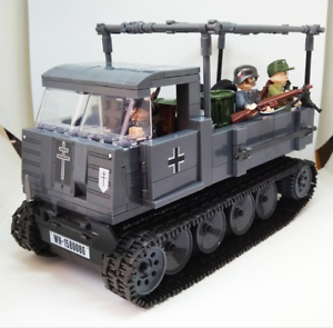 Ros-cars-amp-3-pcs-Minifigures-Soldier-Weapons-lego-MOC-WW2-Army-Police-Toys