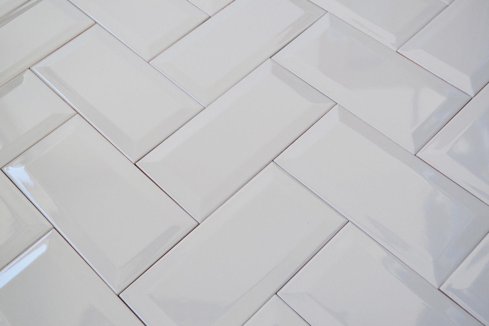 Ceramic tile edging ebay victorian metro brick bevel edged ceramic wall tiles pastel grey 10x10 sample dailygadgetfo Gallery