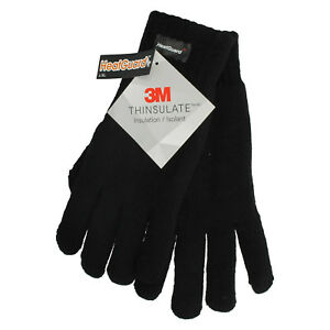 532f0e1e353e1 Details about HEATGUARD GL130BK THINSULATE CASUAL WINTER MENS WARM GLOVES  BLACK THERMAL COMFY