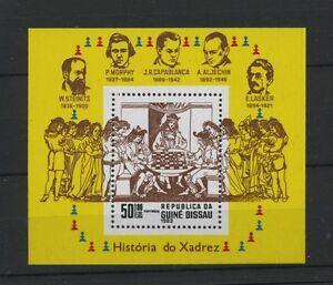 W0844-GUINEA-BISSAU-1983-CHESS-MI-BLOCK-250-MNH-UM-SEE-SCA