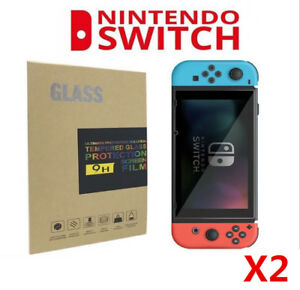 2x-Nintendo-Switch-Console-Screen-Protector-Cover-Premium-Tempered-Glass-9H