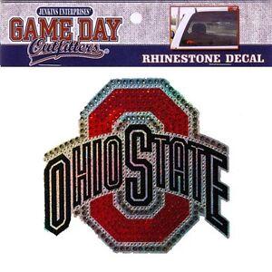Details About Ohio State Rhinestone Bling Window Decal Sticker Buckeyes University Car Truck