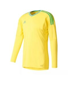 a79fee029 Image is loading ADIDAS-REVIGO-17-GOALKEEPER-JERSEY-BRIGHT-YELLOW-ENERGY-