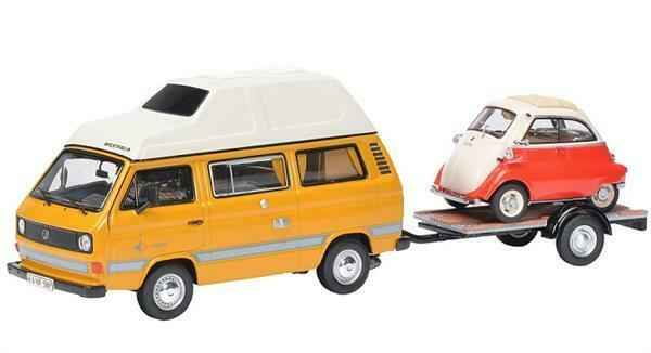 Schuco VW T3 Joker camping bus with traile 1 43 450330300