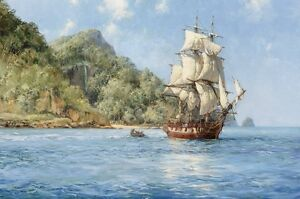 Sailing-in-the-ocean-Oil-Painting-HD-Print-Picture-on-canvas-16x24-inches-L100