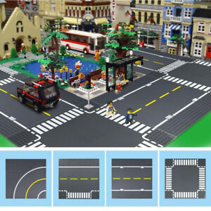 For-LEGO-City-T-Junction-Curves-Road-Base-Plate-Brand-New-Four-Types-Crossing