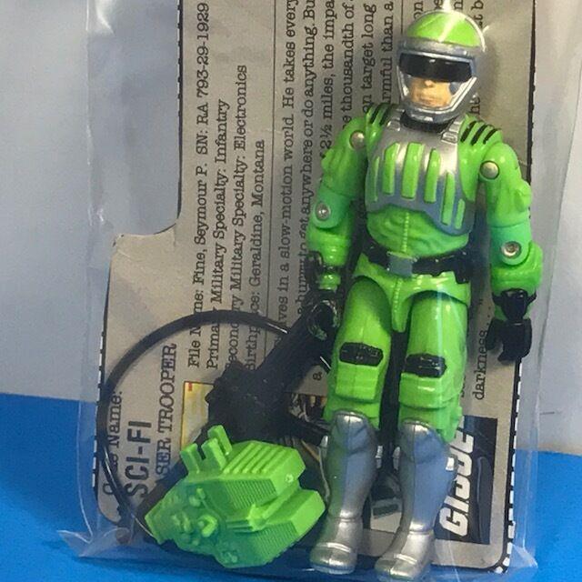 Gi - joe - actionfigur vintage hasbro akte karte sci - fi - soldat gut