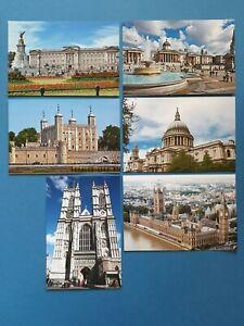 Set-of-6-London-Postcards-UK-England-City-Travel-Landscape-View