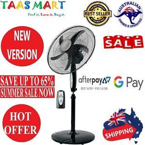 Tilt /& Oscillating Height /& Timer Pedestal Fan 50cm Black 3 Speed with Remote