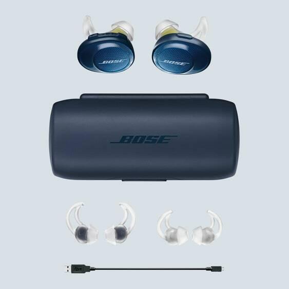 Bose SoundSport Free Wireless In-Ear Headset - Navy/Citron FREE SHipping