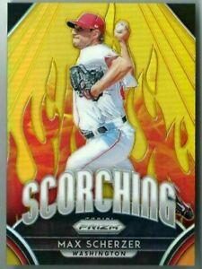 Max Scherzer/Nationals 2019 Panini Prizm Baseball Scorching Gold Card #5/10