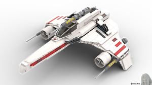 Lego PDF-Bauanleitung SW E-Wing Star Fighter aus Noppensteinen u.a