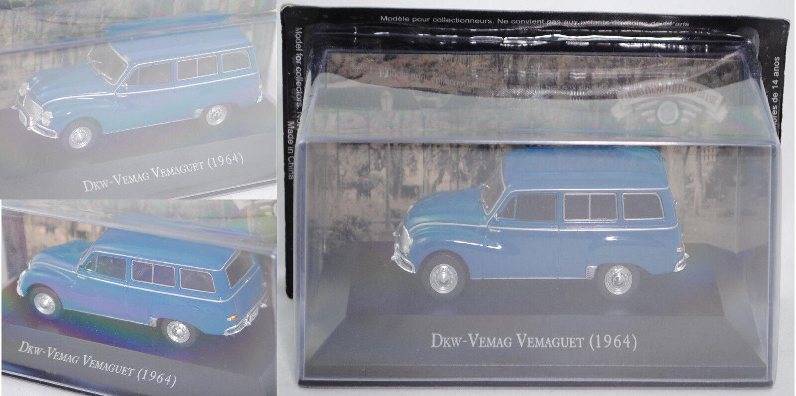Br38 Carros DKW-Vemag vemaguet 1001  cfr. DKW f94 Universal , Blu, 1:43