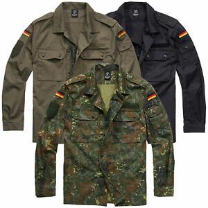 Details zu Brandit BW Bundeswehr Feldbluse S 5XL Herren Armee Feldhemd Feldjacke Karneval