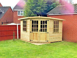 Image Is Loading 9x9 Corner Summerhouse Shed Garden Office Work T