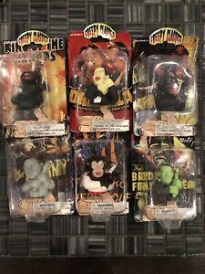 6 NIB creepy classics Finger Puppets FRANKENSTEIN DRACULA MUMMY WEREWOLF 2006
