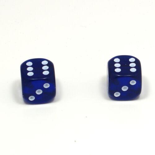 1 paire de dés bleu translucide Poussière Caps pour BMX 80/'s Retro valve caps