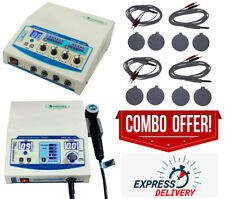 Combo 4 Channel Physical Therapy Unit Ultrasound 1mhz Therapy Massager Machine